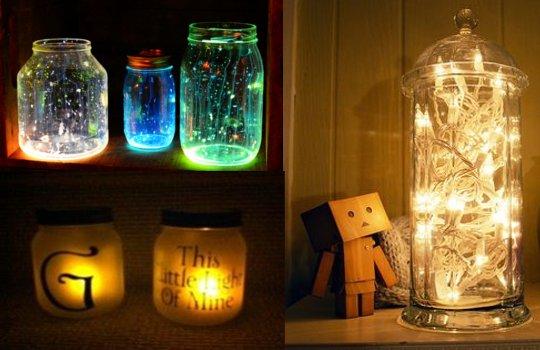 Plastic bottles lamps
