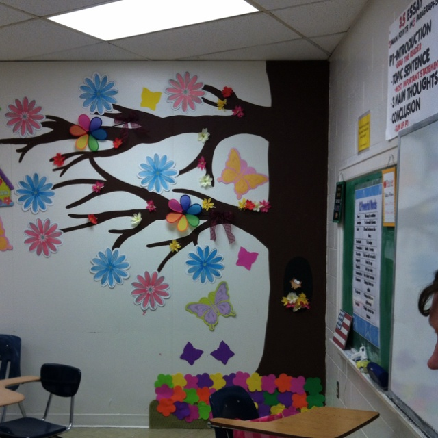 Classroom Decor Tree ~ School soft board decoration ideas home ladder