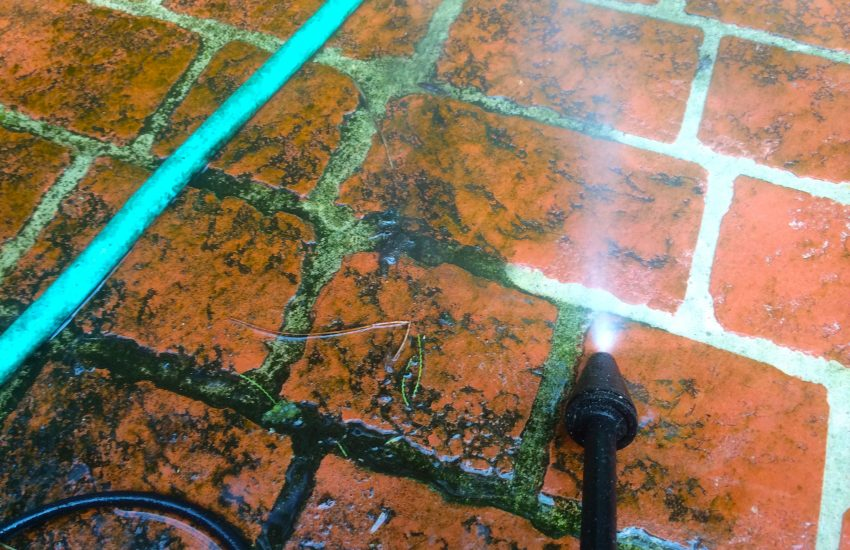 Get Rid of White Stains on garden floor