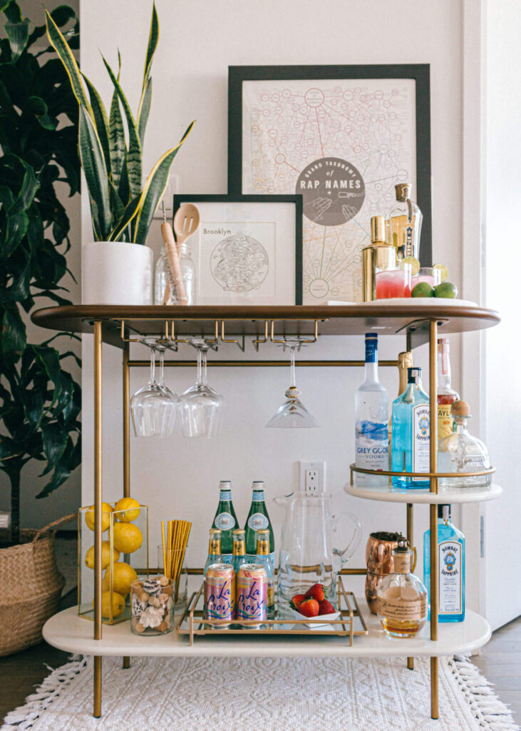 Dual-Purpose Bar Cart