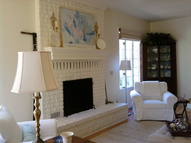 Painted Brick ideas for living room